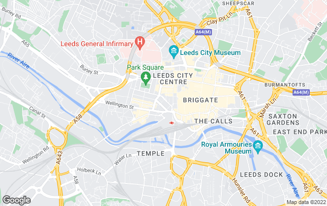 Map for CBRE Ltd, Leeds