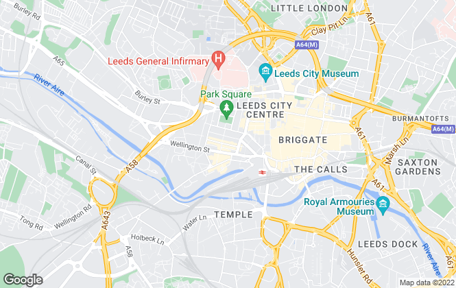 Map for Dove Haigh Phillips LLP, Leeds