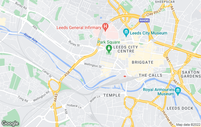 Map for V1sion Properties, Leeds