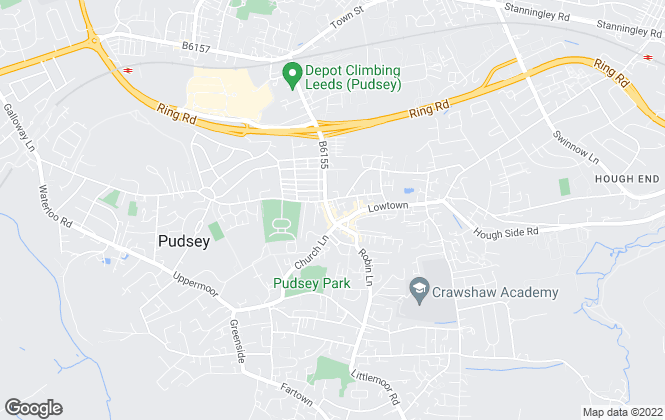Map for Manning Stainton, Pudsey