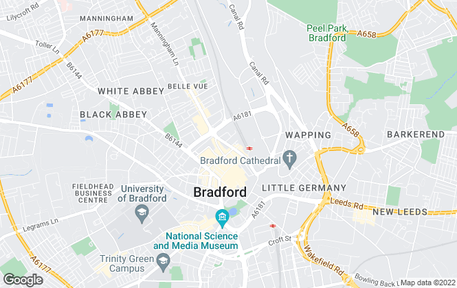 Map for Yorkshire Property Lettings, Bradford
