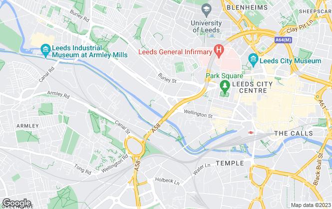 Map for Purplebricks.com, covering Leeds