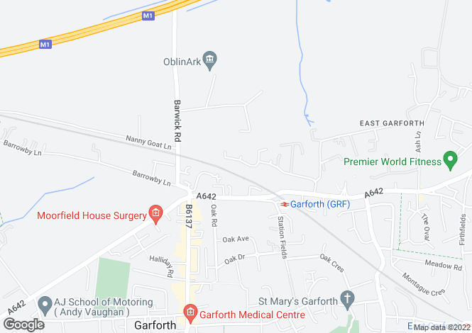 Map for Higham Way, Garforth, Leeds LS25