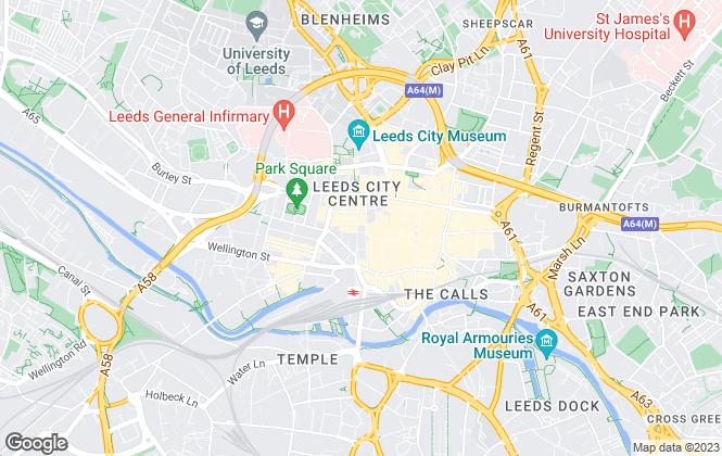 Map for Cassini Properties, Leeds