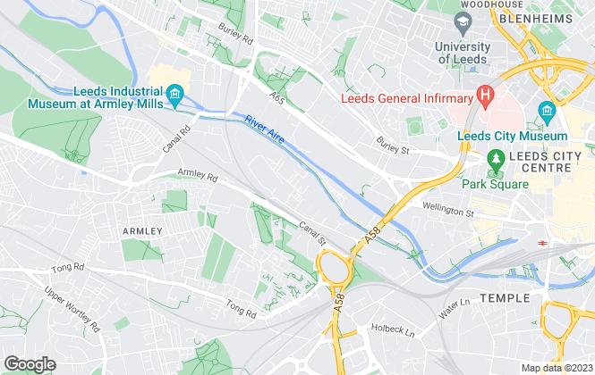 Map for FLEXSPACE, Leeds Albion Park