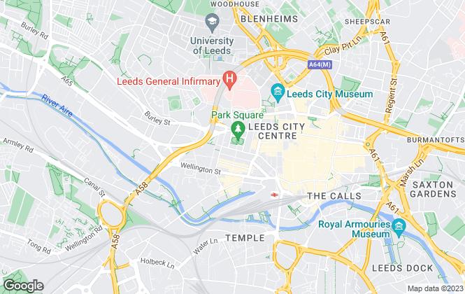 Map for Cushman & Wakefield, Leeds