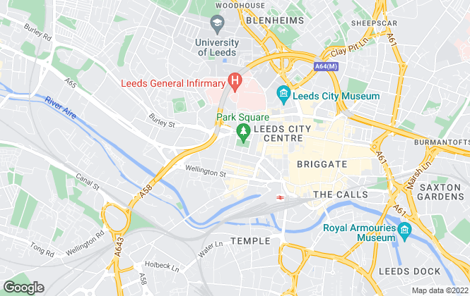 Map for Cushman & Wakefield, Leeds