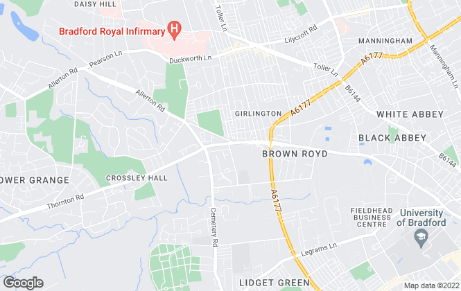 Map for Dinsdales Estates, Bradford