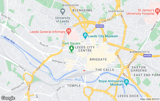 Map for OBI PROPERTY LIMITED, Leeds