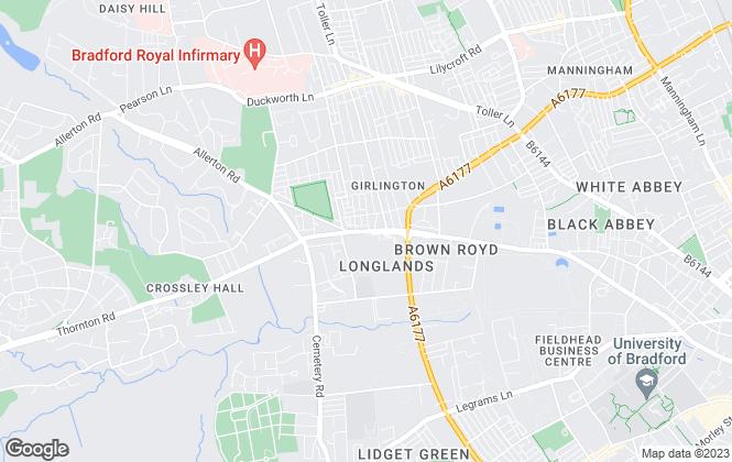 Map for Black Horse Property, Bradford