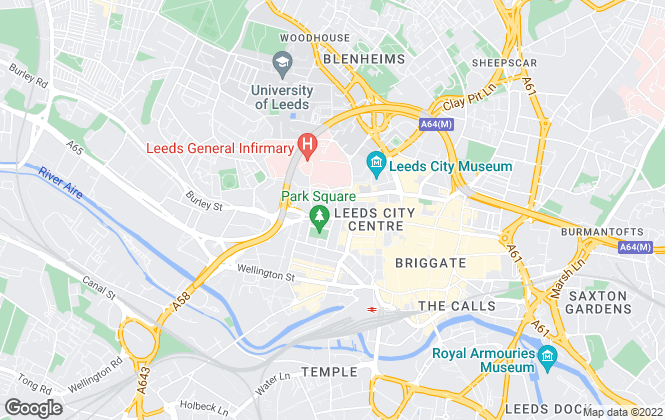 Map for Adair Paxton, Leeds