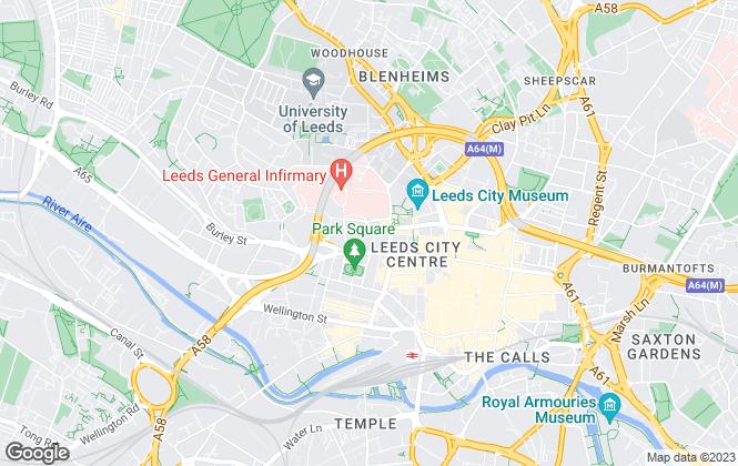 Map for Harvey Hamilton, Leeds