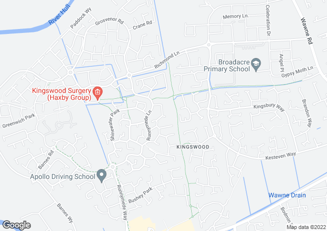 Map for The Causeway, Kingswood, Hull, HU7 3AL