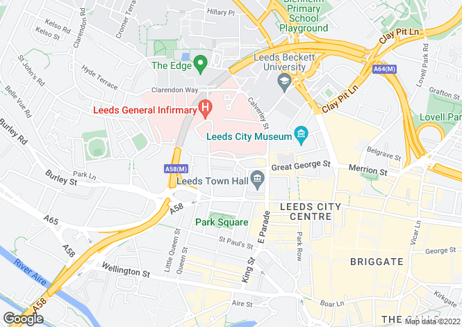 Map for Great George Street, Leeds, LS1