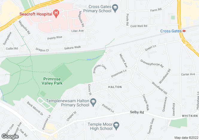 Map for Primrose Grove, Halton, LEEDS, West Yorkshire