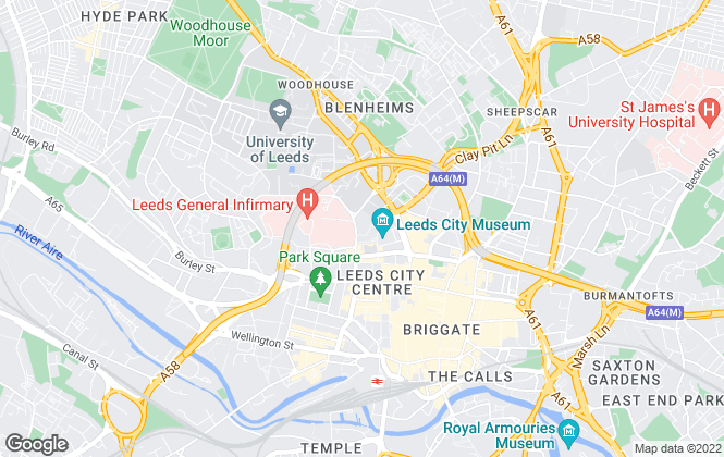 Map for Leeds City Council, Leeds
