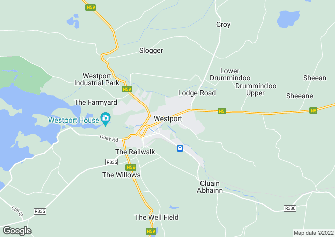 Map for Westport, Mayo