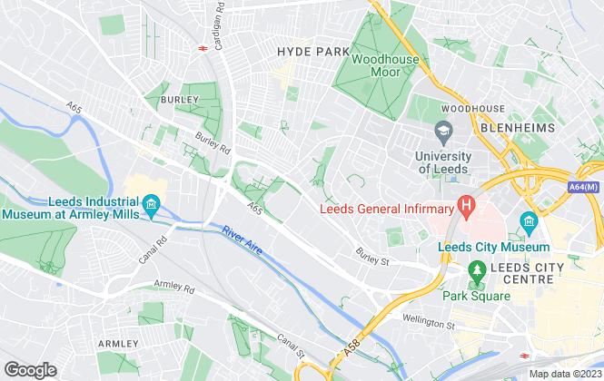 Map for Bedside Manor , Leeds