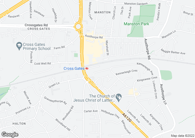 Map for Station Court, Crossgates, LEEDS, West Yorkshire