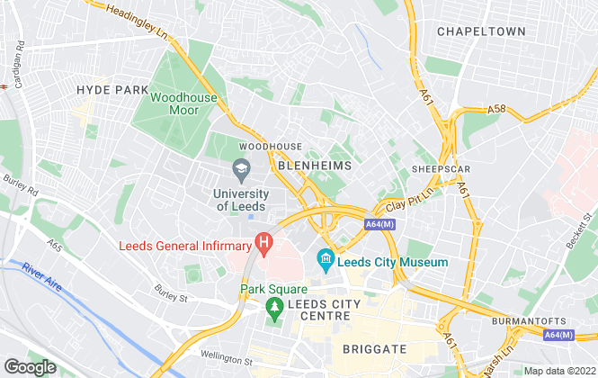 Map for iForHomes, Leeds