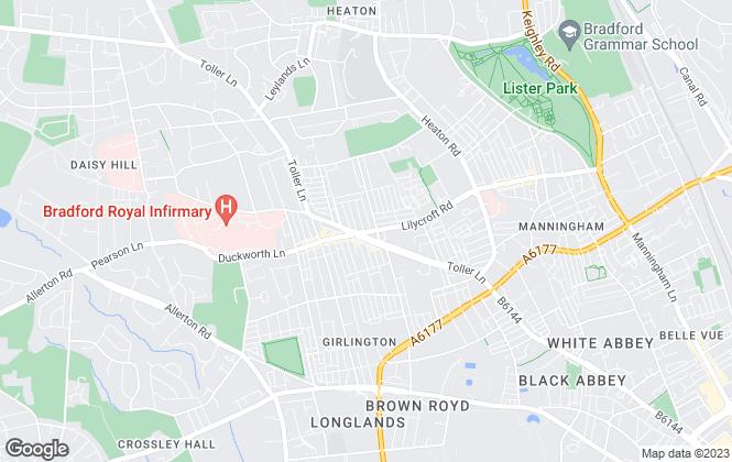Map for Bradford Estates, Bradford