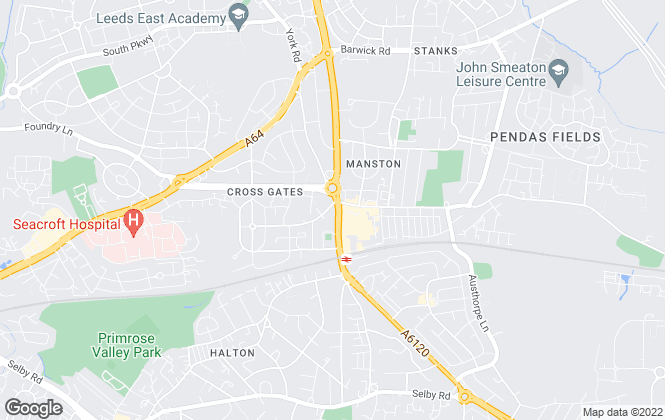 Map for AR Estate Agents, Crossgates