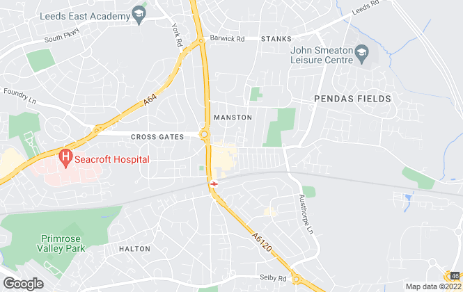 Map for Emsleys Estate Agents, Crossgates