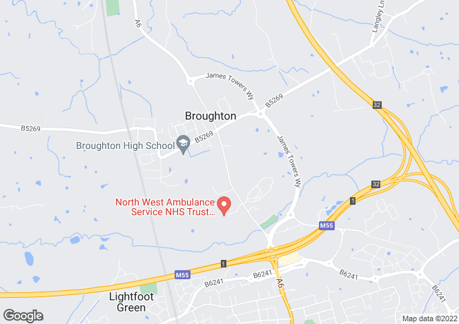 Map for Garstang Road, Preston