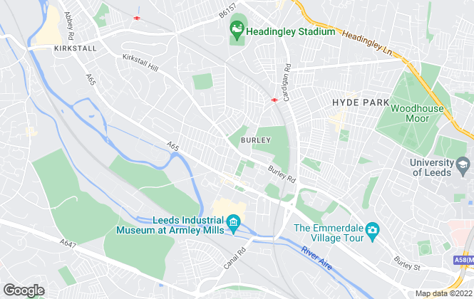 Map for Springwell, Leeds