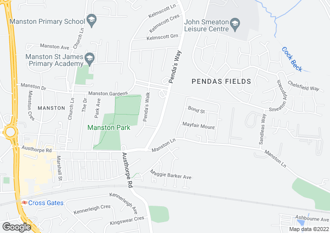 Map for Pendas Way, Crossgates, LEEDS, West Yorkshire