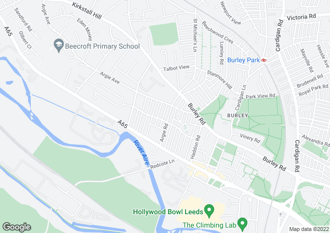 Map for Elsham Terrace, Burley, Leeds