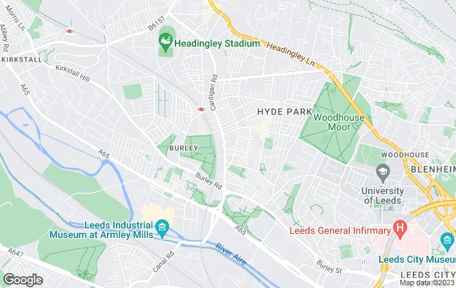 Map for  Uni Lets, Leeds