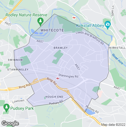 Map of property in Bramley