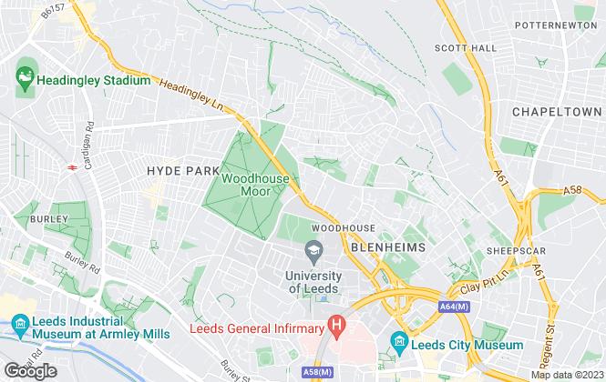 Map for Virtue Estate Agents Ltd, Leeds