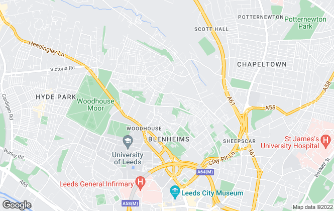 Map for Niche Homes, Leeds