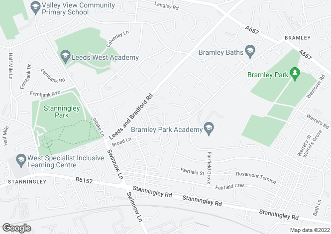 Map for Beecroft Gardens, Bramley, , LS13 3JJ