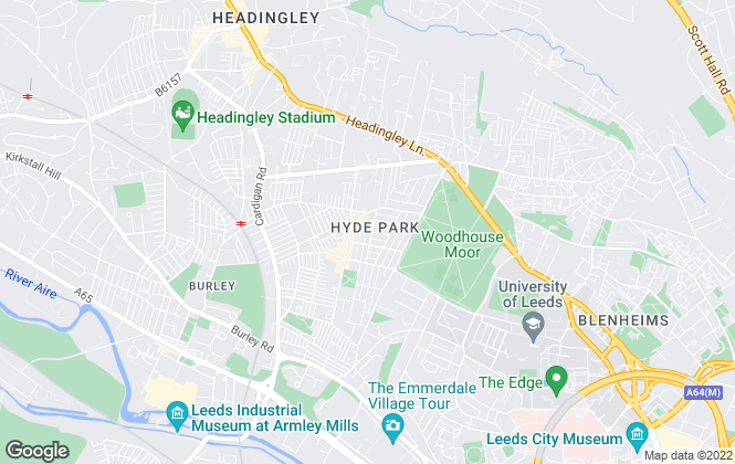 Map for Big Blue Lettings, Leeds