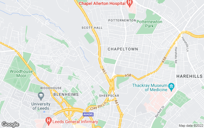 Map for Handley Gibson , Leeds
