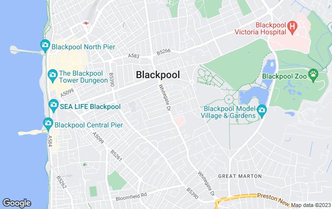 Map for Winnie Tree , Blackpool