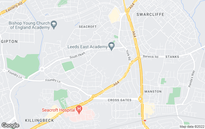 Map for YPP, Sheffield