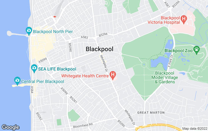 Map for Brighter Lets , Blackpool