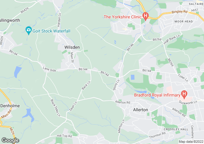 Map for Wilsden Road, Sandy Lane, Allerton BD15