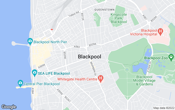 Map for Tiger Sales & Lettings, Blackpool & Preston