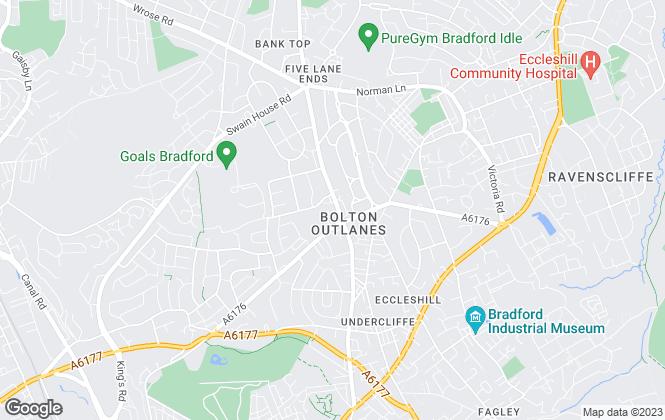 Map for WW Estates, Bradford