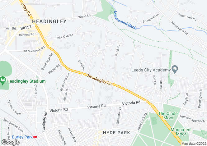 Map for Headingley Halls , 54-56 Headingley Lane, West Yorkshire