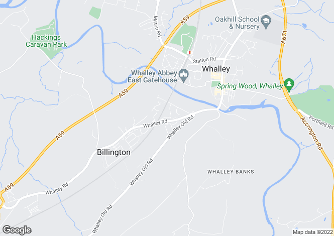 Map for Bank Cottages, Billington, Whalley