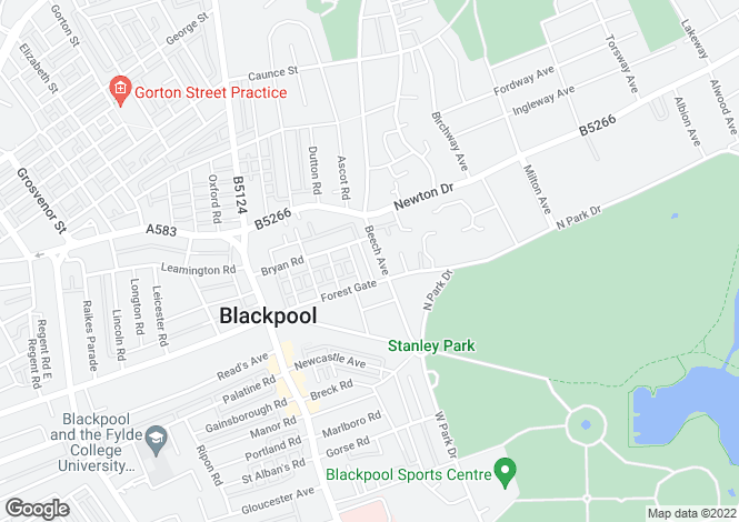 Map for Beech Ave, Blackpool, , FY3 9BB