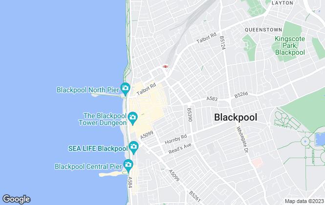 Map for Duncan Raistrick, Blackpool