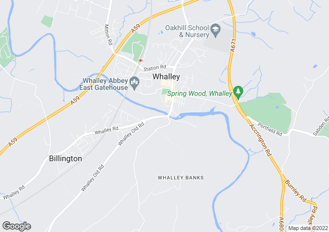 Map for Bridge End, Whalley