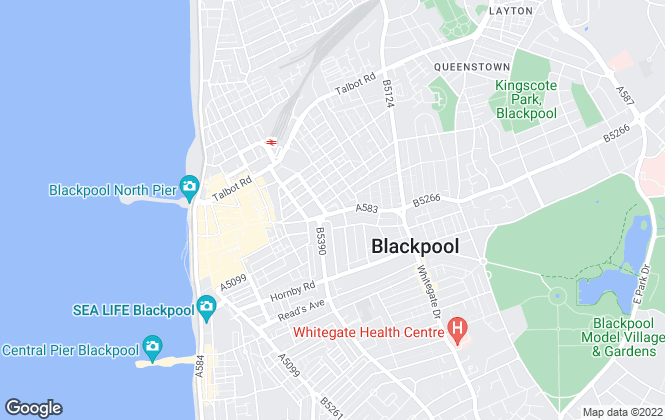 Map for Fylde Coast Lettings, Blackpool